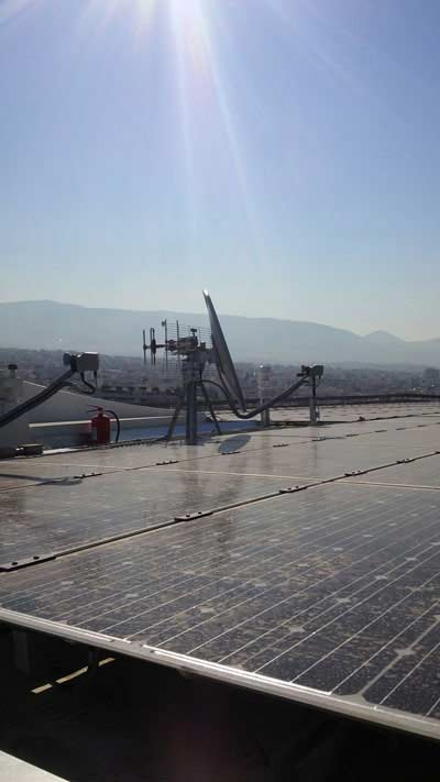 Building Automation - Smart Lufft-Sensor on Stavros Niarchos Foundation Cultural Center (SNFCC) in Athens