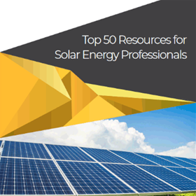 50 Resources for Solar Energy Professionals