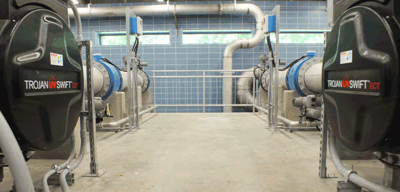 TrojanUVSwiftECT installation at a drinking water plant in Ontario