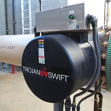 Case study about the TrojanUVSwift installation at the White Tanks Regional Water Treatment Facility in Arizona that provides an additional barrier to Cryptosporidium