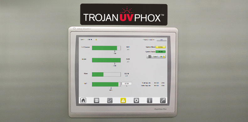 The TrojanUVPhox System Control Centre interface