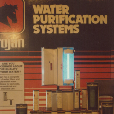 One of the first Trojan residential drinking water ultraviolet light disinfection systems