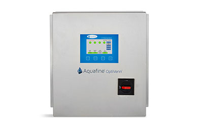 A photo of the control panel used with the Aquafine OptiVenn UV system